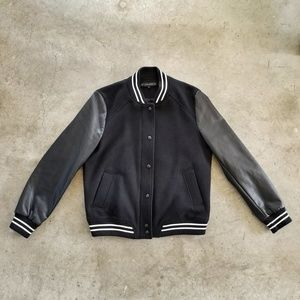 TRF FAUX LEATHER BOMBER